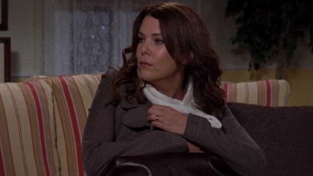 The Lorelai-Christopher marriage is horrible right from the start on Gilmore Girls