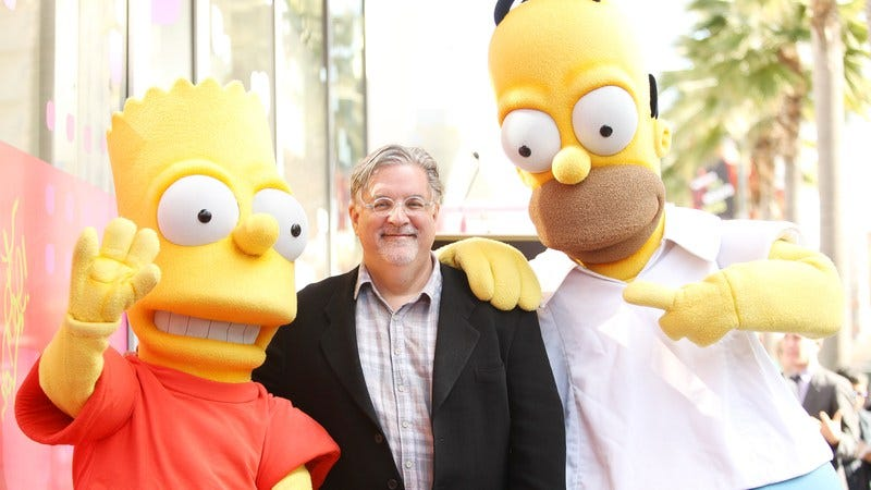 We're pretty sure that's Groening over on the left. (Photo: Michael Tran/FilmMagic/Getty)