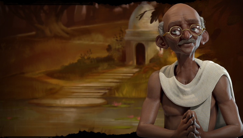 Illustration for article titled Gandhi Is Still An Asshole In Civilization VI