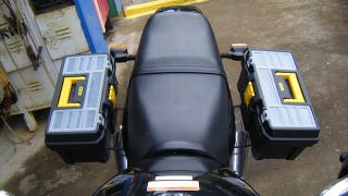 Illustration for article titled Add a Pair of Toolbox Saddlebags to Your Bike or Motorcycle on the Cheap