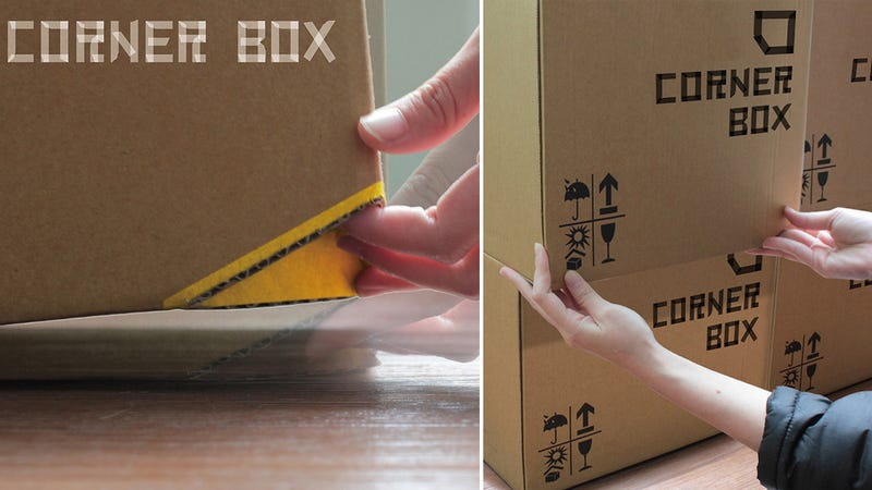 Illustration for article titled The Cardboard Box Finally Gets a Genius Upgrade