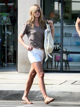 Illustration for article titled Jennifer Aniston's Homemade Designer Shorts