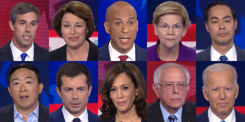 Illustration for article titled DNC Says No Cussing, But I'm Pretty Sure That's Just for the Candidates: ROUND 3 #2020Dems Debate OT