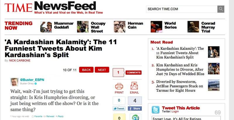 Illustration for article titled Prestigious Sportswriter Makes Prestigious Publication For His Kim Kardashian Tweet