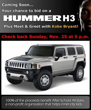 Illustration for article titled Kobe Bryant Wants You to Have a Hummer... You Know, For Kids
