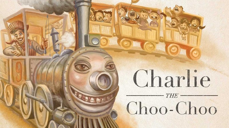 Images from Charlie the Choo-Choo via Amazon