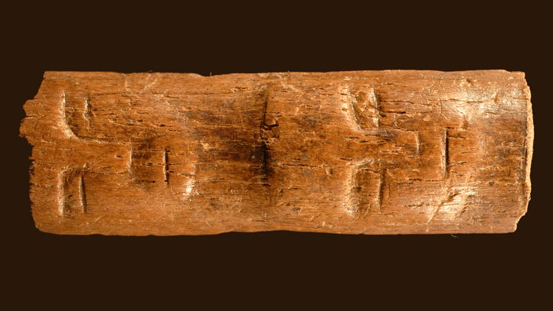 """Illustration for article titled A 9,000-year-old """"ritual wand"""" has been discovered in Syria"""