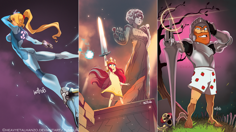 Illustration for article titled Artist Gives Video Game Characters A Cartoony Facelift