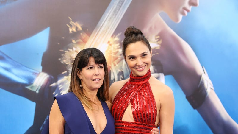 Wonder Woman's Patty Jenkins and Gal Gadot. (Photo: Michael Tran/Getty Images)