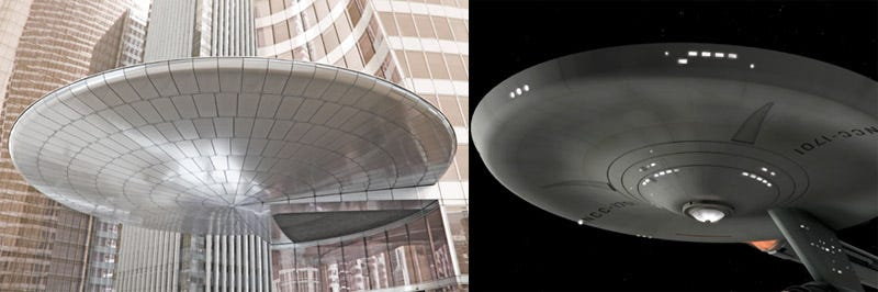 Illustration for article titled Buildings That Look Like Famous Spaceships: A Gallery