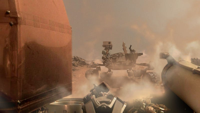 Illustration for article titled NASA Catches Glimpse Of Hard-Charging Curiosity Rover Just Before InSight's Communications Go Dark