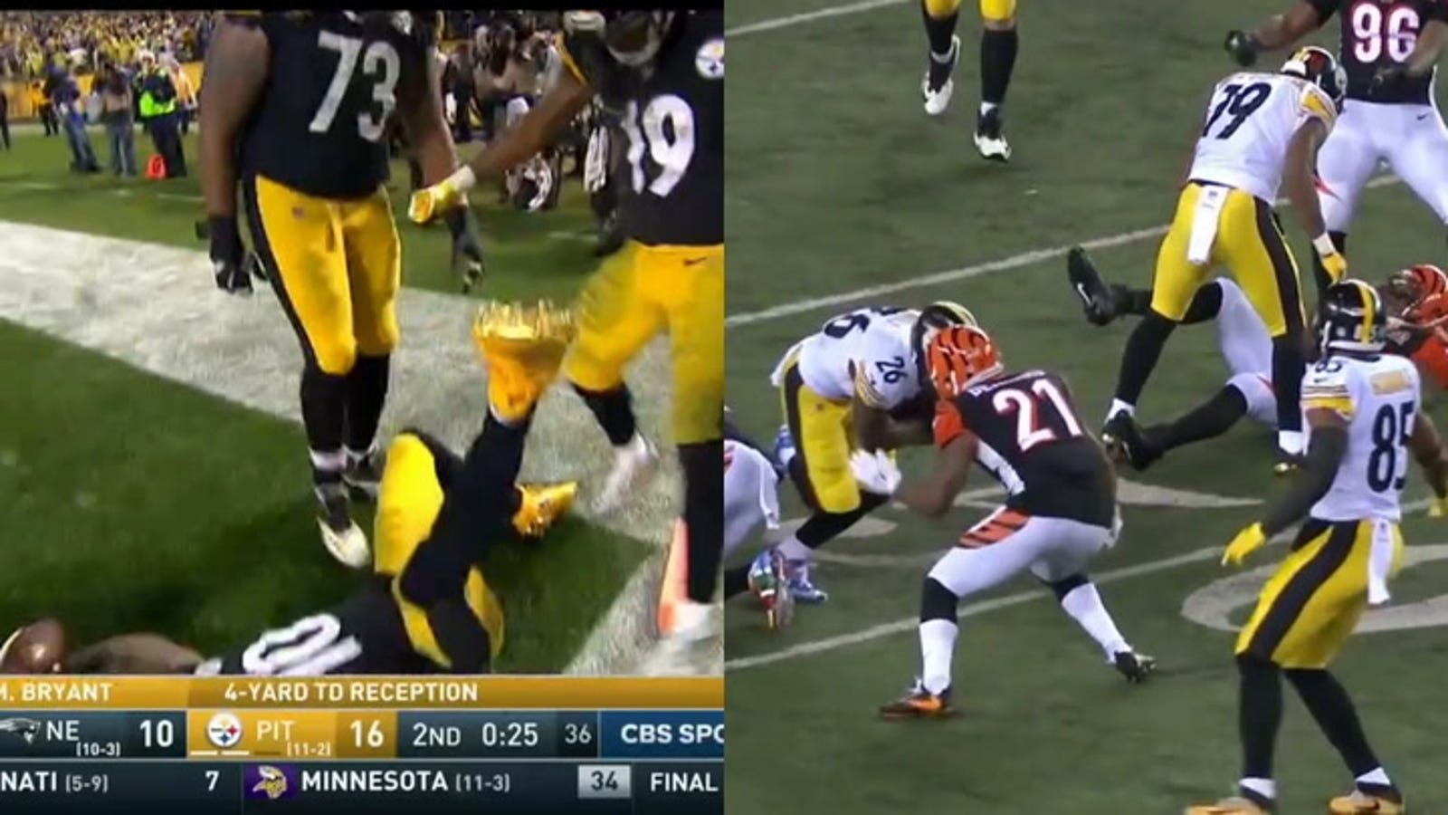 newest 4883a 6eebc JuJu Smith-Schuster Celebrates Steelers TD By Reenacting Hit ...