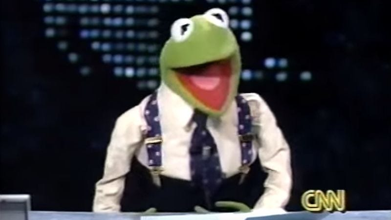 In 1994, Kermit The Frog filled in as host of CNN's Larry