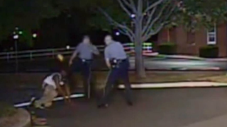 Dash-cam video footage of an August 2013 incident shows Dover, Del., Police Cpl. Thomas Webster IV kicking Lateef Dickerson in the face. Dickerson suffered a broken jaw.Fox News Screenshot