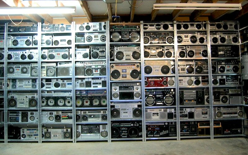 This Incredible Collection of 400 Vintage Boomboxes Is Up