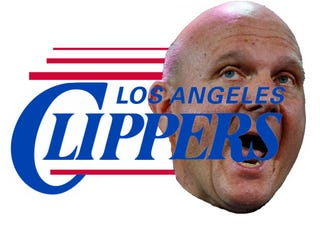 Illustration for article titled Ballmer Yelled His Email Address at Ballmeriffic Clippers Event