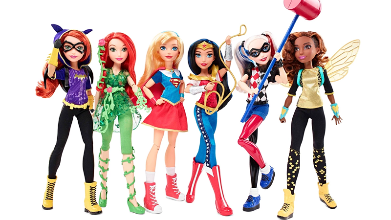 Illustration for article titled Mattel Designed its DC Superhero Girls Doll Designs To Be Less Pretty and Way More Heroic