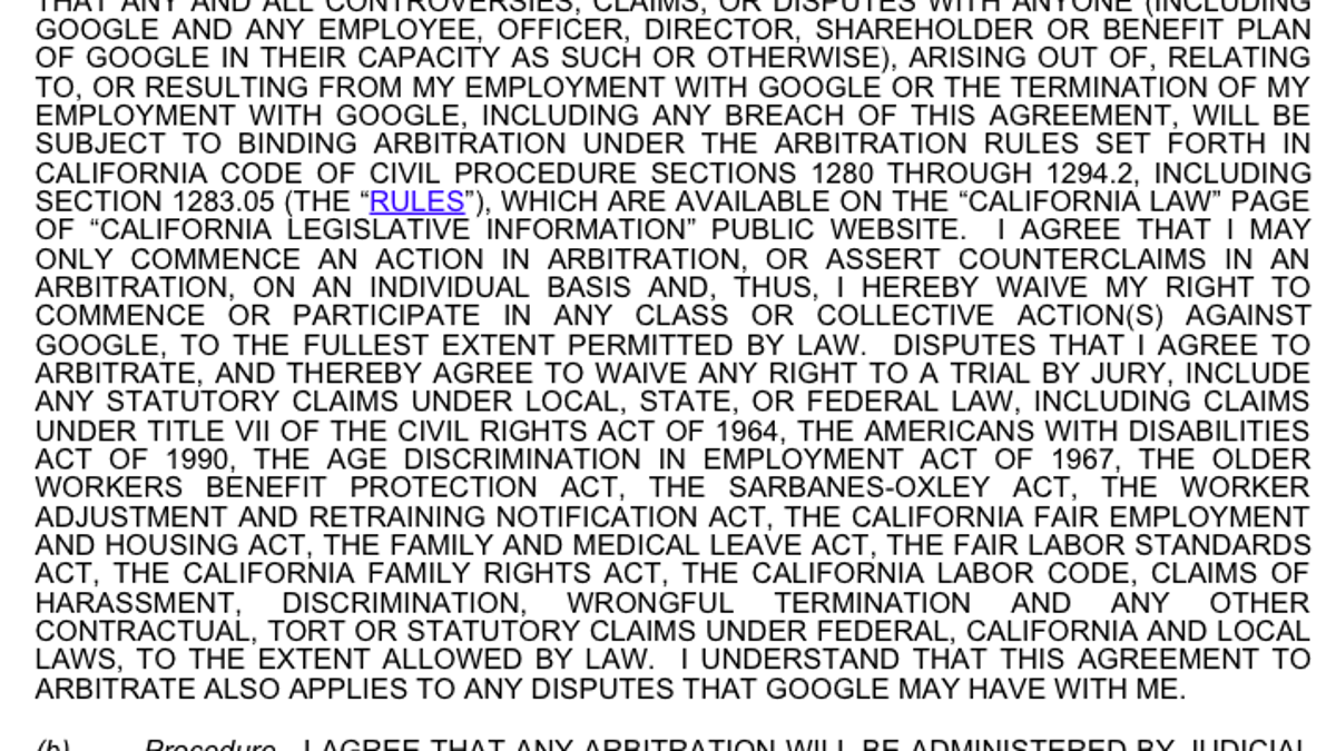 Silicon Valley Needs To Ban Forced-Arbitration Agreements