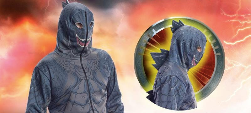 Illustration for article titled Spiked Godzilla Hoodie Lets You Live Out Your Destructive Fantasies