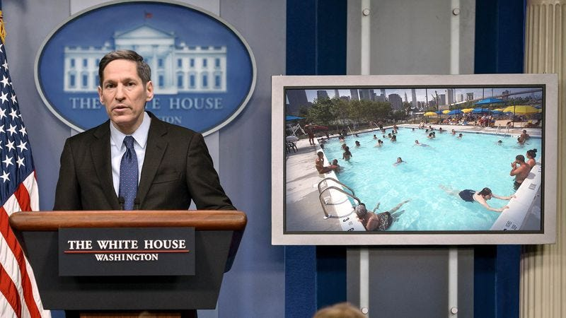 Officials believe that as many as 5 million Americans may have come into contact with public pools in recent weeks, including millions of young children.