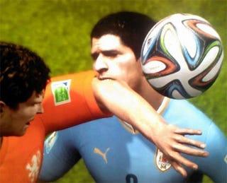 Illustration for article titled FIFA's Luis Suarez Develops Taste For Digital Flesh