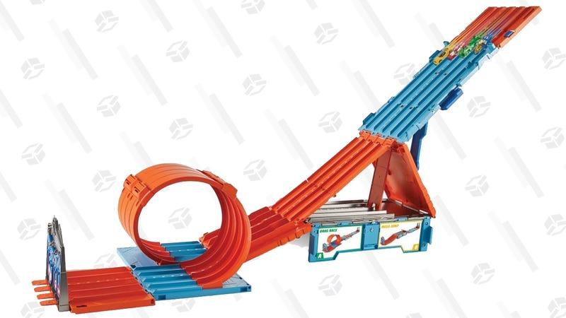 Hot Wheels Track Builder System Race Crate & Stunt Set | $30 | Walmart