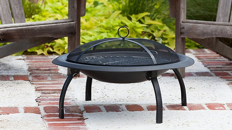 """29"""" Fire Pit with Folding Legs, $33"""