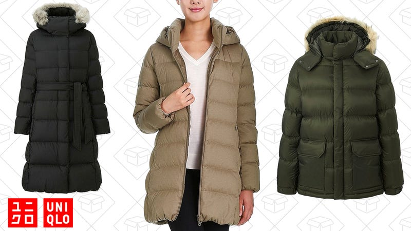 $20 off Uniqlo down coats for men and women