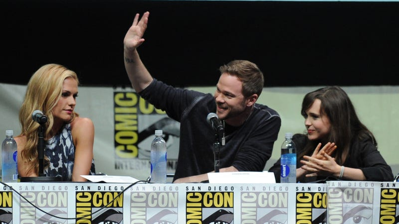Anna Paquin, Shawn Ashmore and Ellen Page in 2013. Image via Getty.
