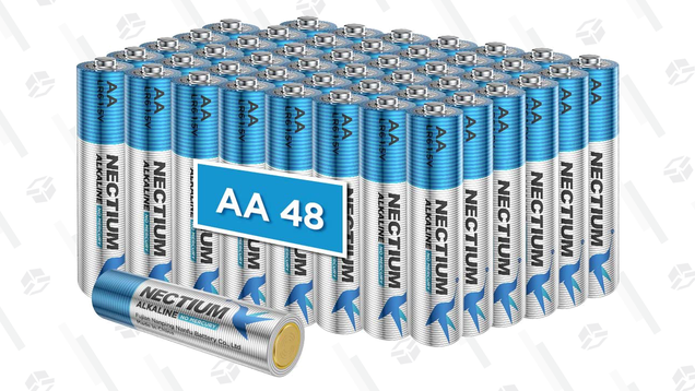 Get a 48-Pack of AA Batteries for Just $15, or AAA Batteries for $13