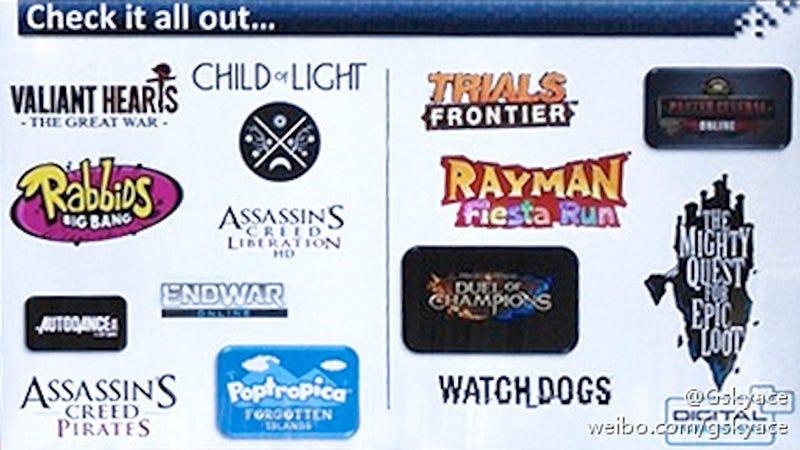 Illustration for article titled Leaked Image Listing Two More Assassin's Creeds, EndWar Return Is Real