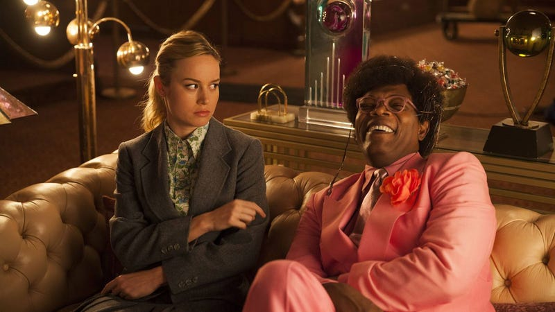 Brie Larson and Samuel L Jackson, best of friends, in Unicorn Store.