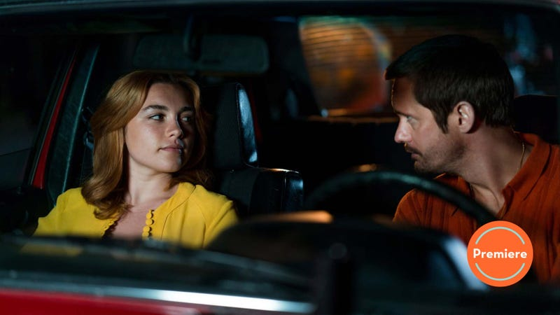 Charlie (Florence Pugh) and Becker (Alexander Skarsgård)