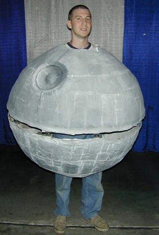 Illustration for article titled Death Star Costume Doesn't Take Into Account The Use of Arms