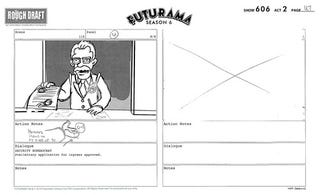 Illustration for article titled Futurama storyboards