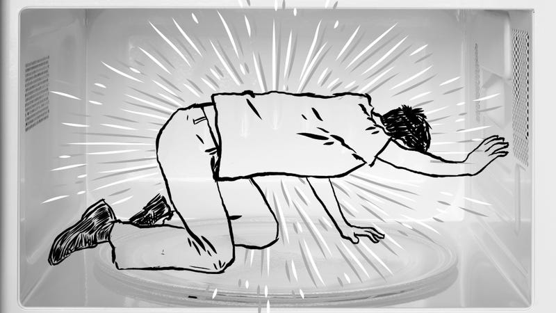 Illustration for article titled What Would Really Happen If You Put A Human In A Microwave?