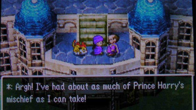Illustration for article titled Even Dragon Quest V Knows Prince Harry is a Naughty Boy