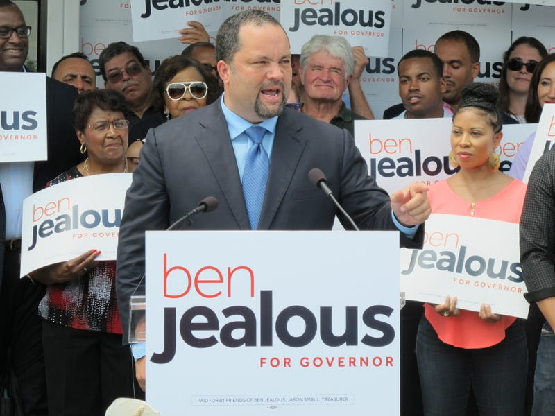 Former NAACP Chairman Ben Jealous announces his campaign for governor of Maryland during a rally in Baltimore on May 31, 2017. (Brian Witte/AP Images)
