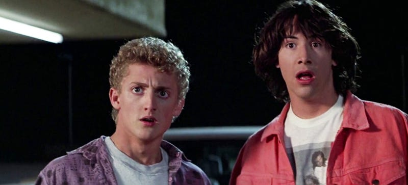 If you guys are really us, what number are we thinking of? Photo Credit: Bill & Ted's Excellent Adventure