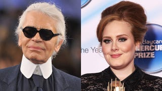 Illustration for article titled Karl Lagerfeld Says Adele Is 'A Little Too Fat'