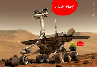 Illustration for article titled Fellow Robots Trying to Help Stuck Mars Spirit