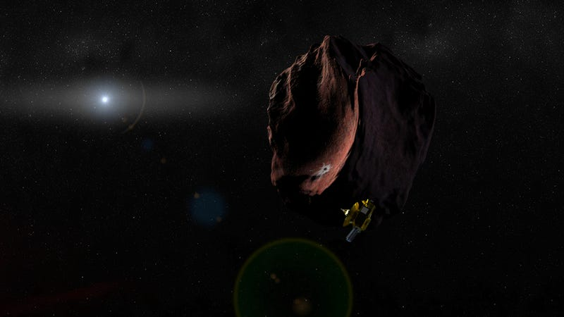 Artist's impression of New Horizons encountering  MU69. The probe is expected to make its rendezvous on January 1, 2019. (Image: NASA/JHUAPL/SwRI)