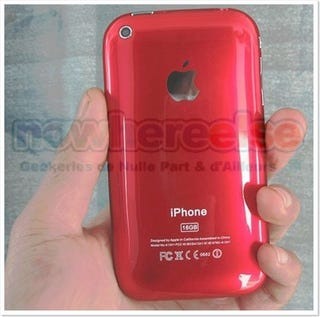 Illustration for article titled iPhone 3G Red Looks Cool but It's Fake