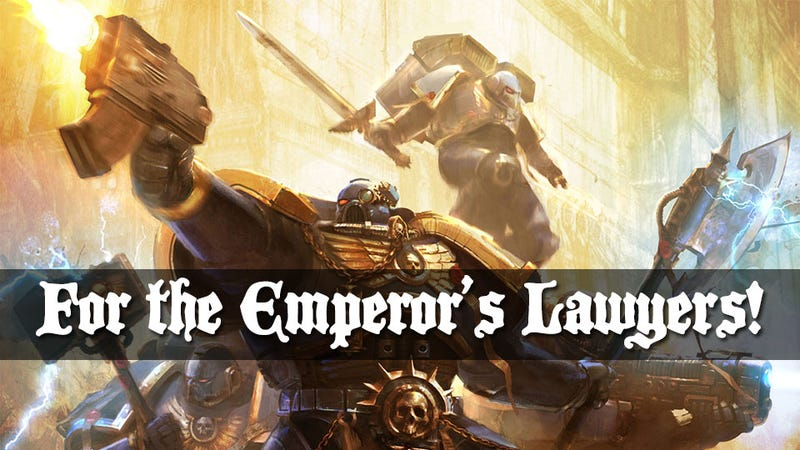"""Illustration for article titled Author Says Games Workshop Is Trying To Own The Term """"Space Marine"""""""