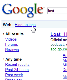 Illustration for article titled Make Google Search Options Expand by Default