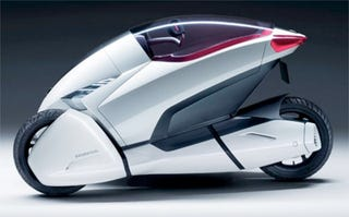 Illustration for article titled Honda's Eco-Friendly Trike of the Future
