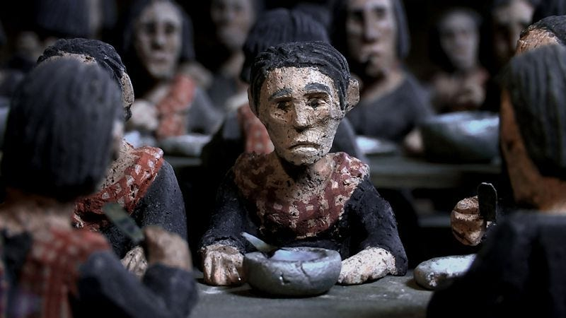 Illustration for article titled The Missing Picture uses clay figurines to expose the horrors of history