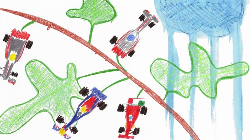 Illustration for article titled The 2011 Hungarian Grand Prix in Crayola