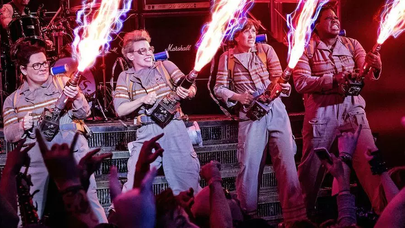 The stars of the 2016 Ghostbusters reboot.