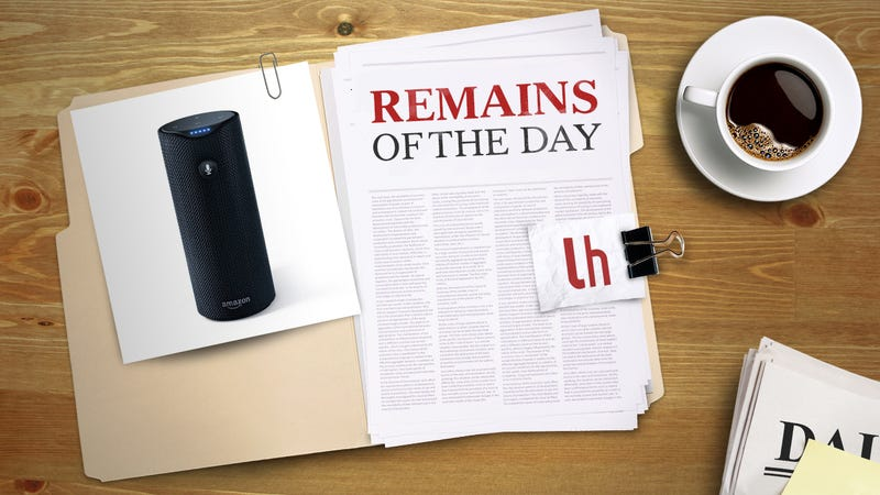 Illustration for article titled Remains of the Day: Amazon Tap Gets Touch-Free Activation